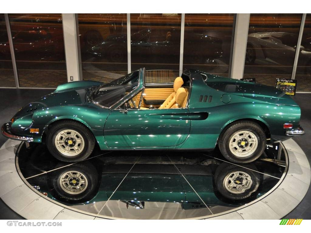 1974 Medium Green Metallic Ferrari Dino 246 Gts 10015512 Photo 11 Gtcarlot Com Car Color Galleries