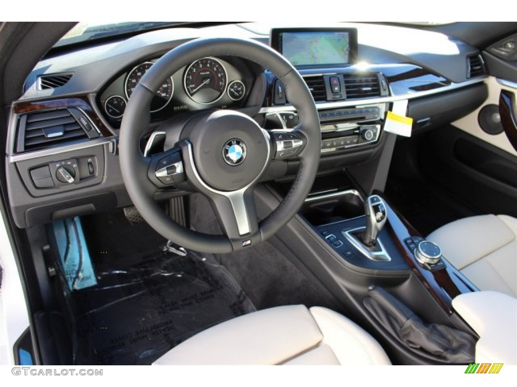 ivory white and black interior 2015 bmw 4 series 428i gran coupe photo 100181586. Black Bedroom Furniture Sets. Home Design Ideas