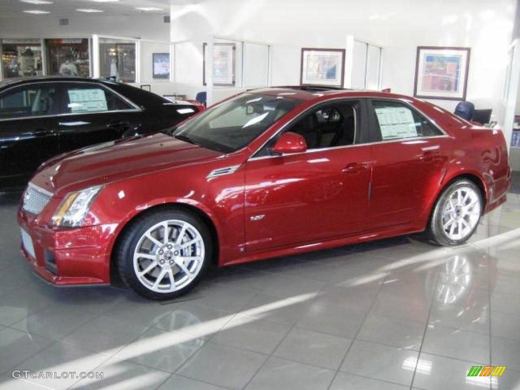 2009 Crystal Red Cadillac Cts V Sedan 10015125