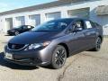 2015 Modern Steel Metallic Honda Civic EX Sedan  photo #1