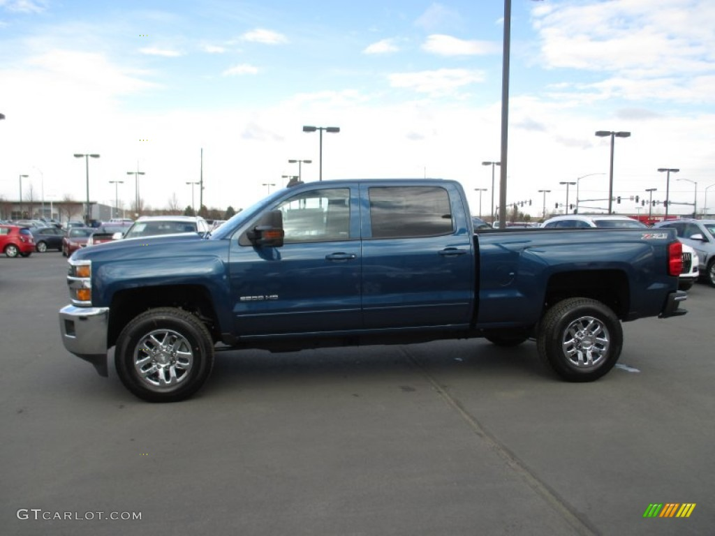 deep ocean blue metallic 2015 chevrolet silverado 2500hd lt crew cab 4x4 exterior photo. Black Bedroom Furniture Sets. Home Design Ideas