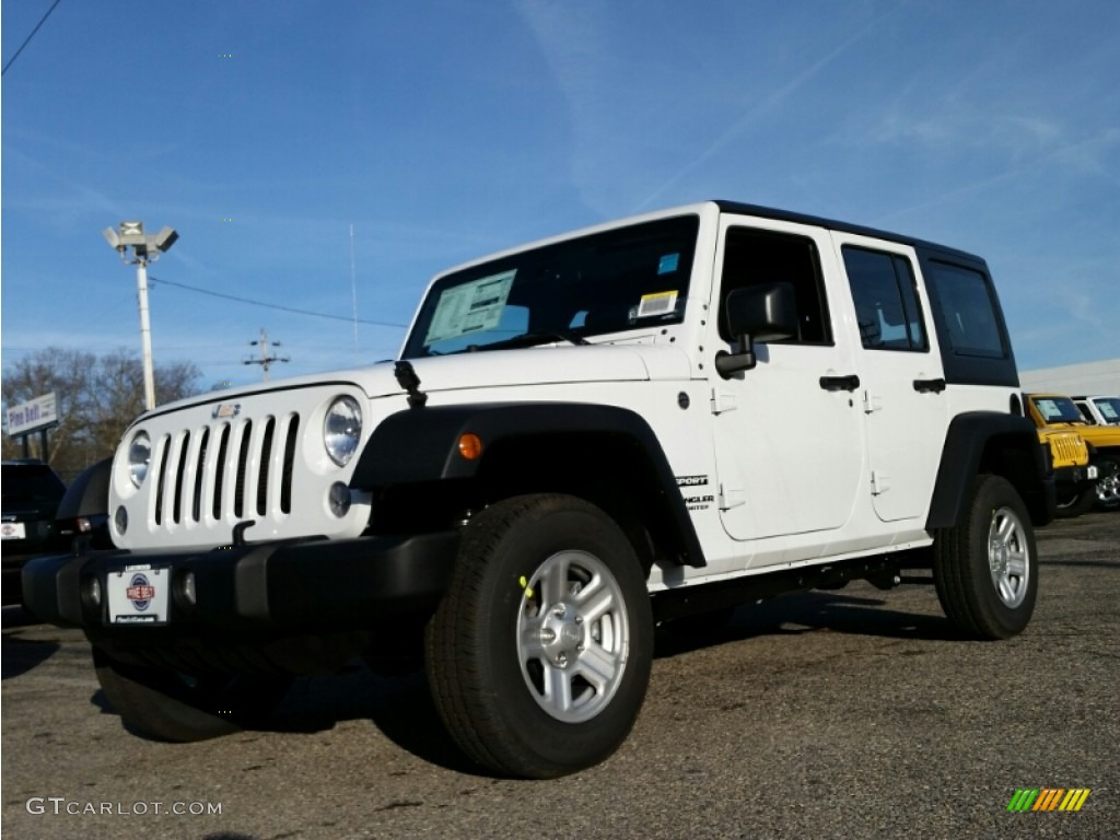 2015 bright white jeep wrangler unlimited sport 4x4 #100229586