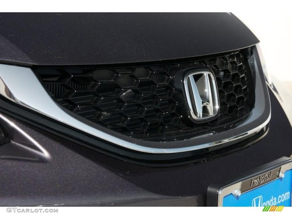 2015 Civic EX-L Sedan - Modern Steel Metallic / Gray photo #4