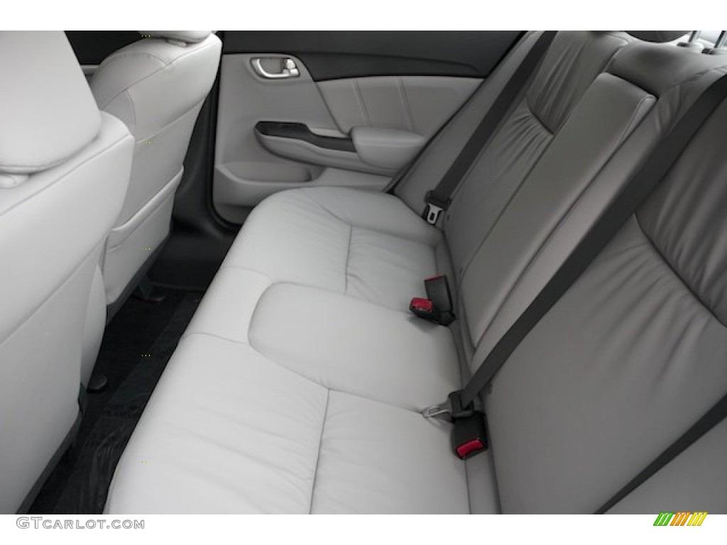 2015 Civic EX-L Sedan - Modern Steel Metallic / Gray photo #17
