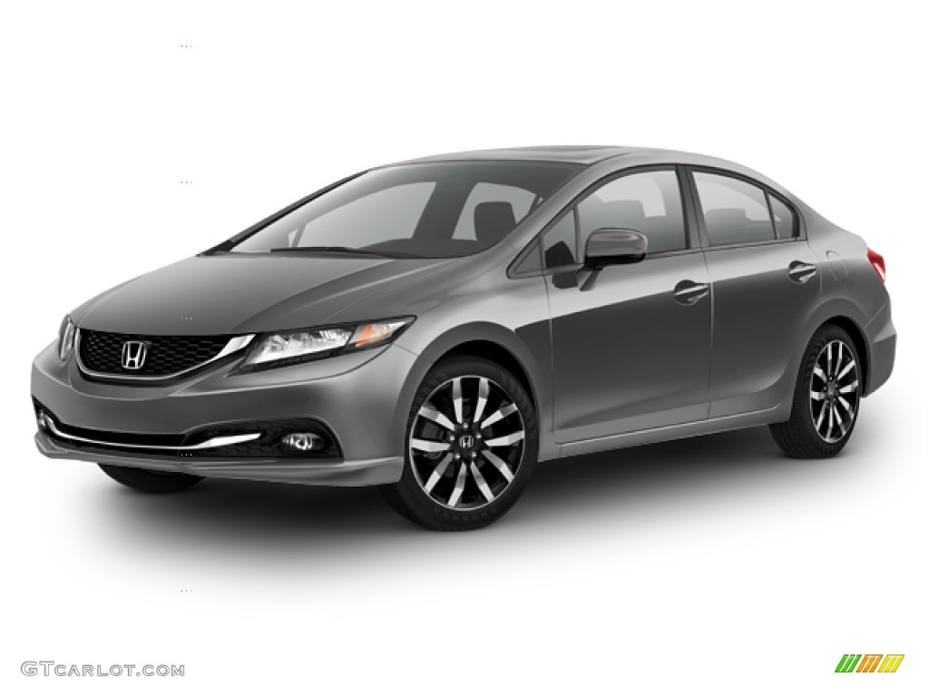 2015 Civic EX-L Sedan - Modern Steel Metallic / Gray photo #23