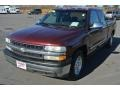 1999 Dark Carmine Red Metallic Chevrolet Silverado 1500 LS Extended Cab  photo #2
