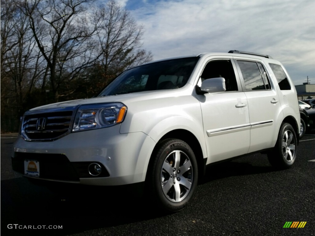 2015 white diamond pearl honda pilot touring 4wd