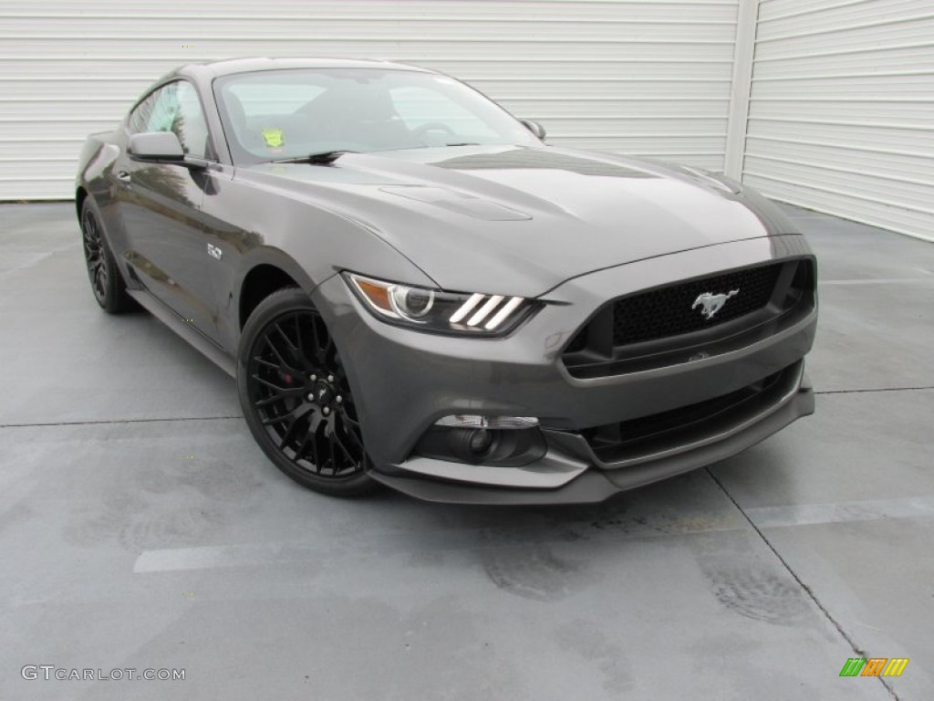 2015 magnetic metallic ford mustang gt premium coupe 100260522
