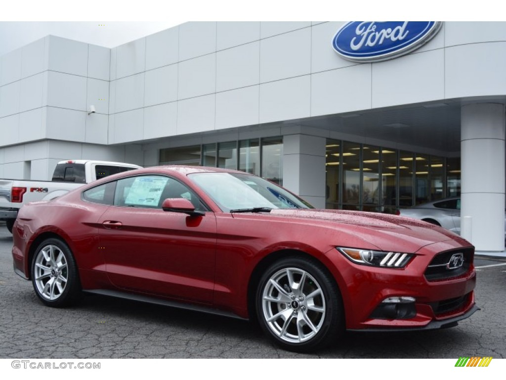 2015 Ford Mustang Ecoboost Premium >> 2015 Ruby Red Metallic Ford Mustang EcoBoost Premium Coupe #100284082 Photo #2 | GTCarLot.com ...