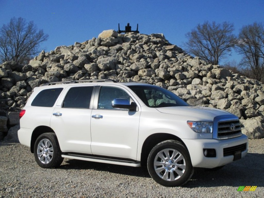 2011 blizzard white pearl toyota sequoia platinum 4wd 100284433 car color. Black Bedroom Furniture Sets. Home Design Ideas