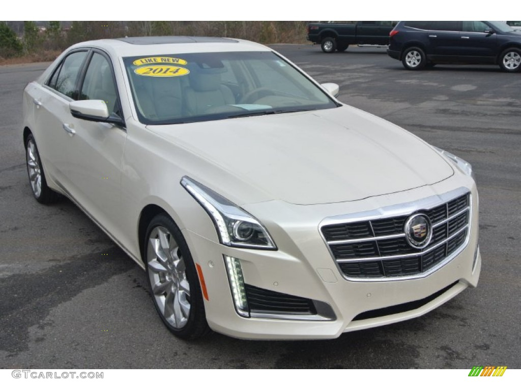 2014 white diamond tricoat cadillac cts premium sedan awd 100284323 car color. Black Bedroom Furniture Sets. Home Design Ideas