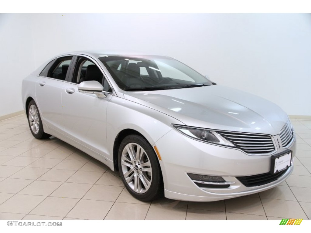 "2014 Lincoln MKZ Hybrid in Ingot Silver and 20"" Lexani R6 Silver ..."