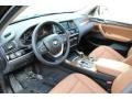 2015 BMW X3 Saddle Brown Interior Prime Interior Photo
