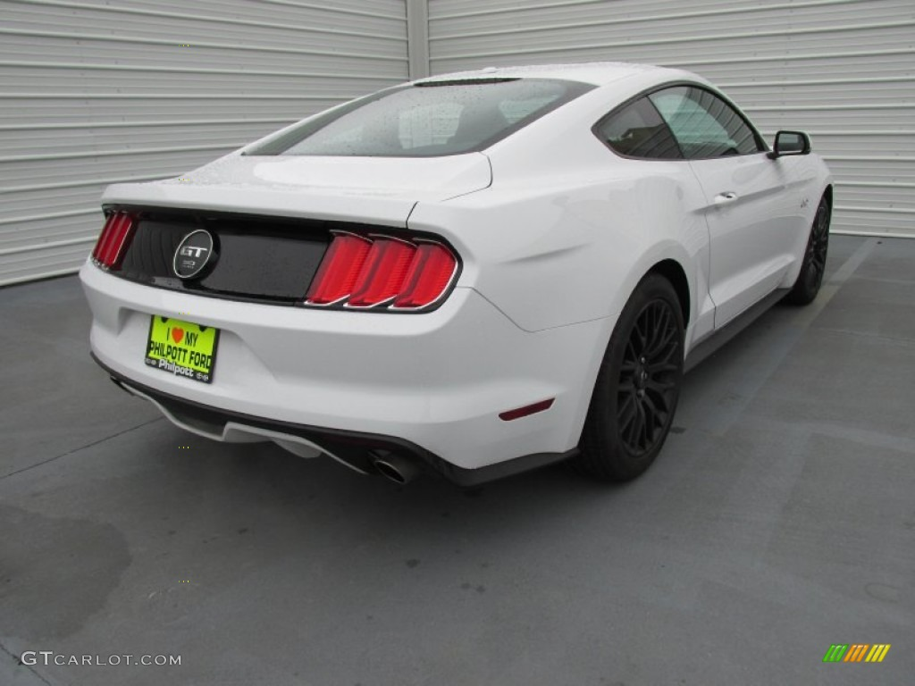 2015 Mustang GT Premium Coupe - Oxford White / 50 Years Raven Black photo #4