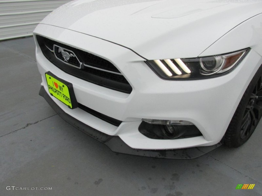 2015 Mustang GT Premium Coupe - Oxford White / 50 Years Raven Black photo #10