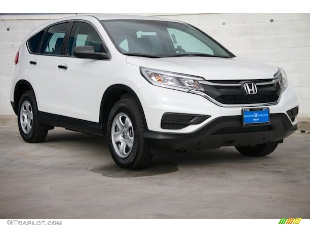 2015 CR-V LX - White Diamond Pearl / Beige photo #1