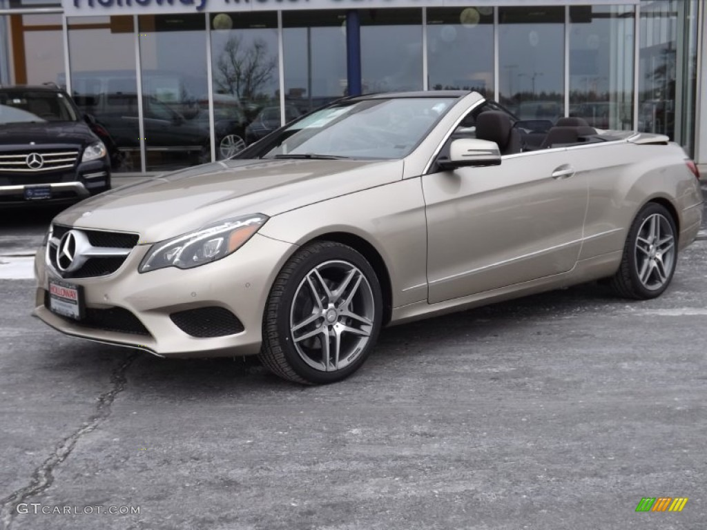 2015 dune silver metallic mercedes benz e 400 cabriolet for Mercedes benz silver