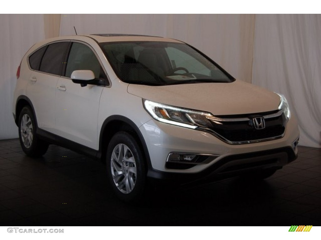 2015 CR-V EX - White Diamond Pearl / Beige photo #2