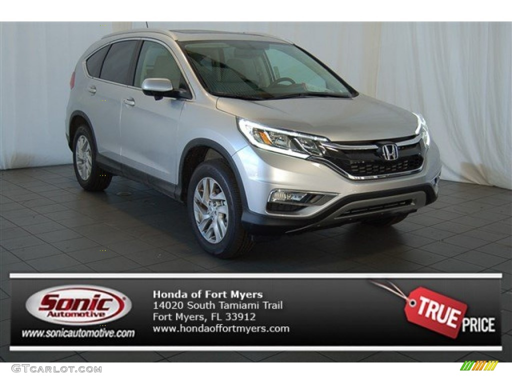 2015 CR-V EX-L AWD - Alabaster Silver Metallic / Gray photo #1