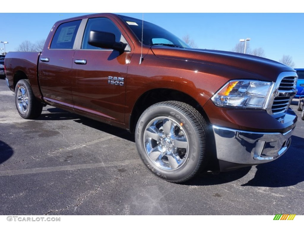 2015 1500 Big Horn Crew Cab - Western Brown / Canyon Brown/Light Frost photo #4