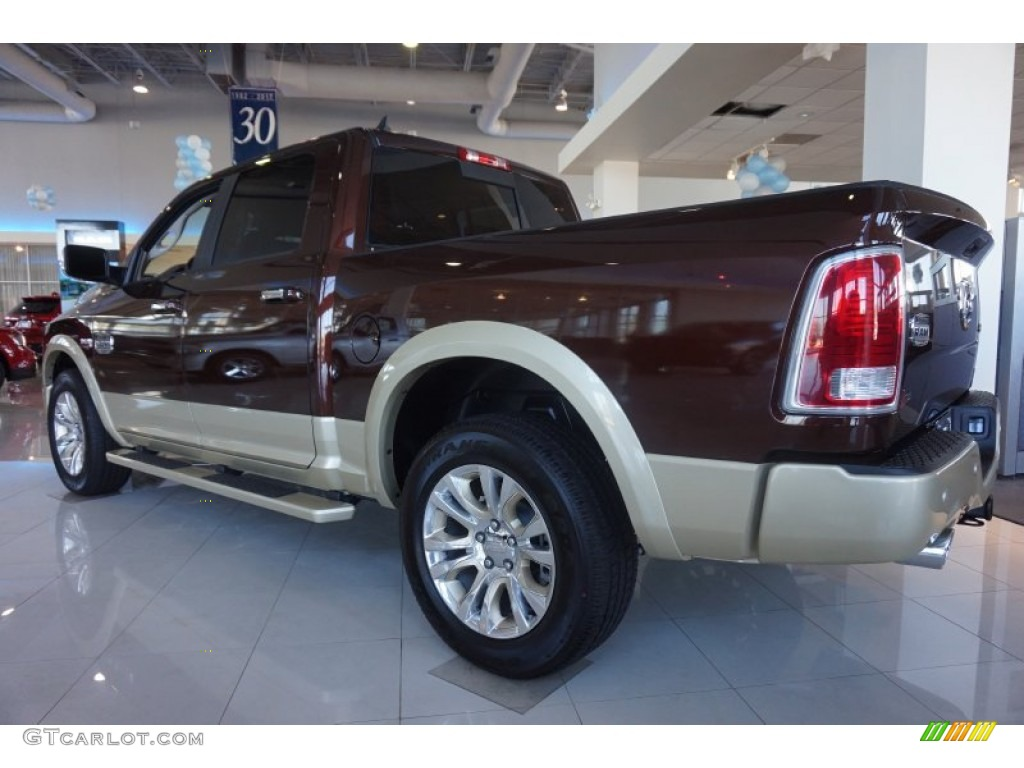 2015 1500 Laramie Long Horn Crew Cab 4x4 - Western Brown / Canyon Brown/Light Frost photo #2