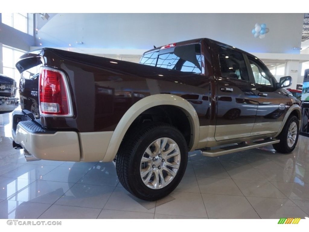 2015 1500 Laramie Long Horn Crew Cab 4x4 - Western Brown / Canyon Brown/Light Frost photo #3