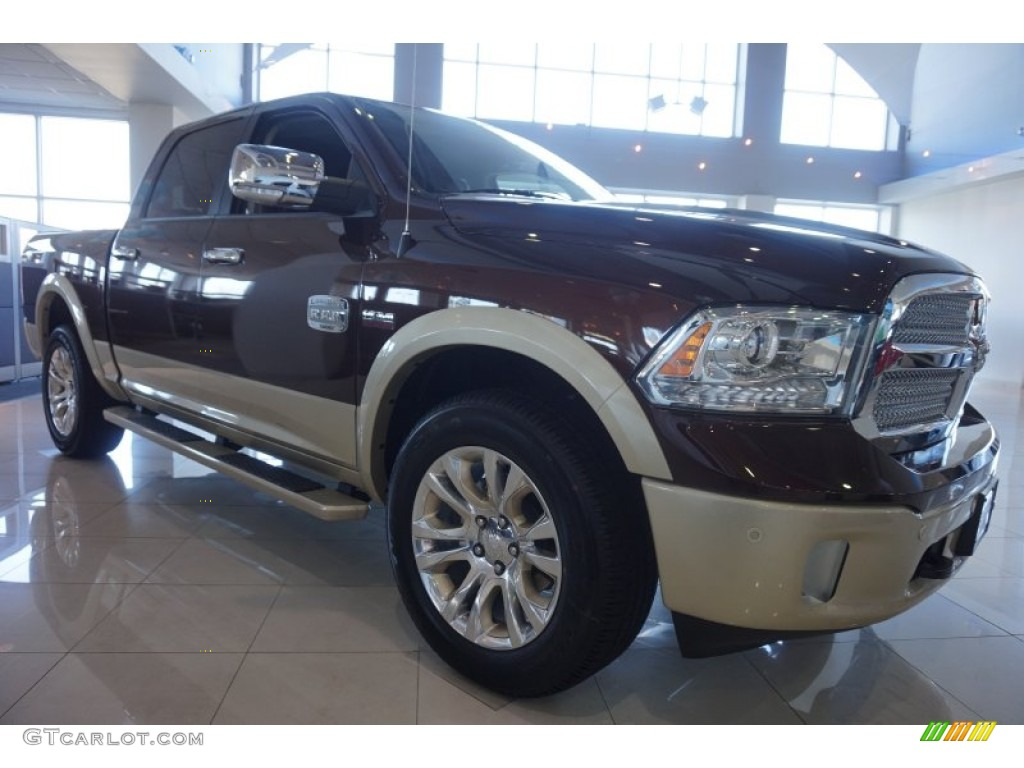 2015 1500 Laramie Long Horn Crew Cab 4x4 - Western Brown / Canyon Brown/Light Frost photo #4