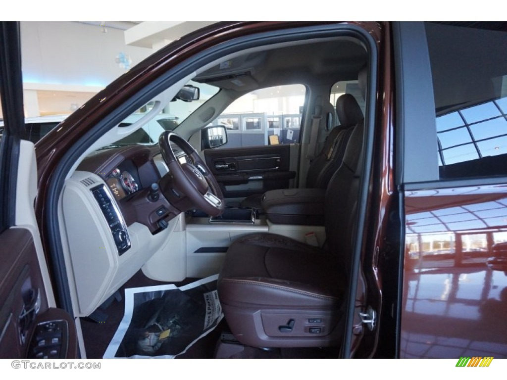 2015 1500 Laramie Long Horn Crew Cab 4x4 - Western Brown / Canyon Brown/Light Frost photo #7