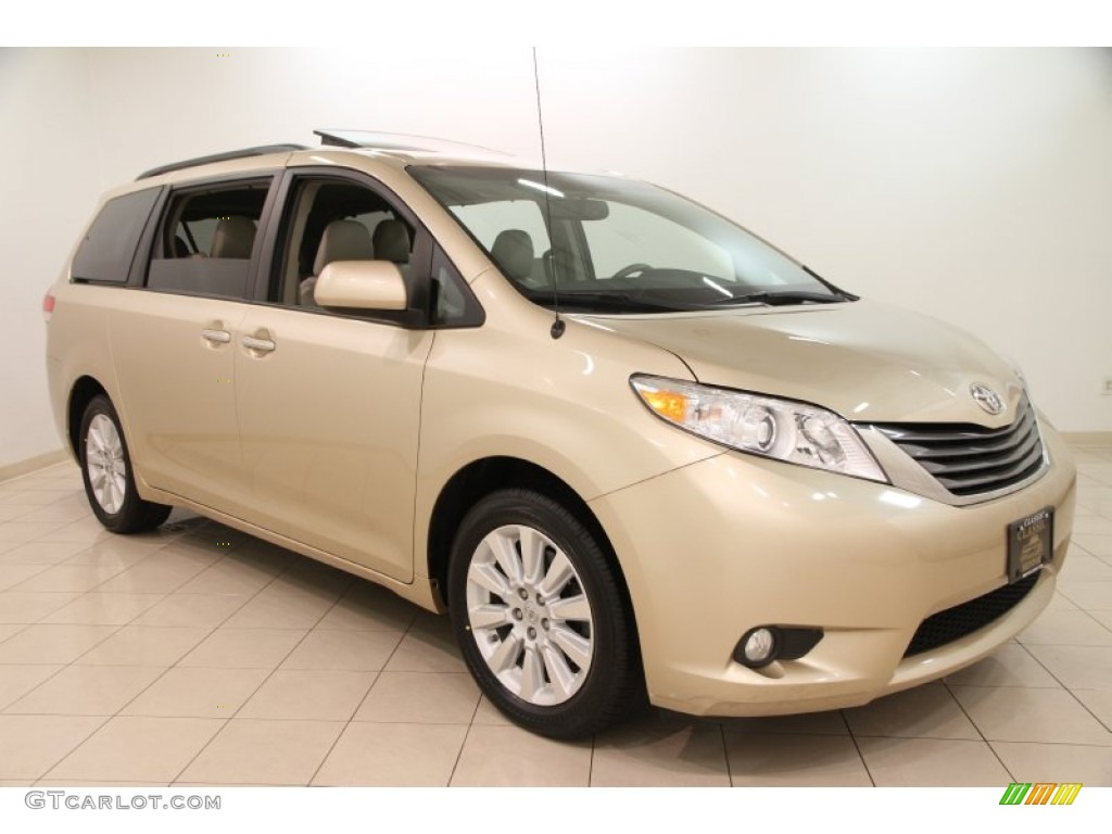 2012 sandy beach metallic toyota sienna xle awd 100557706 car color galleries. Black Bedroom Furniture Sets. Home Design Ideas