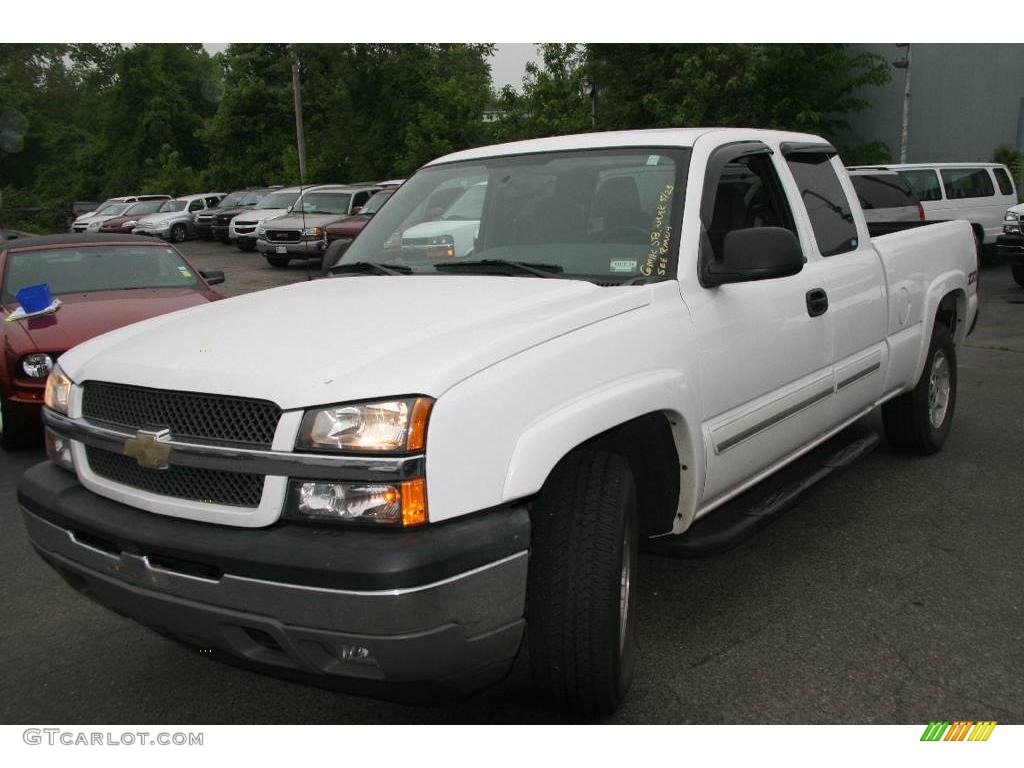 2005 summit white chevrolet silverado 1500 z71 extended cab 4x4 10055057 car. Black Bedroom Furniture Sets. Home Design Ideas