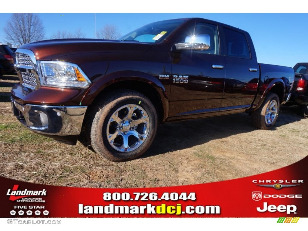 2015 1500 Laramie Crew Cab 4x4 - Western Brown / Canyon Brown/Light Frost photo #1