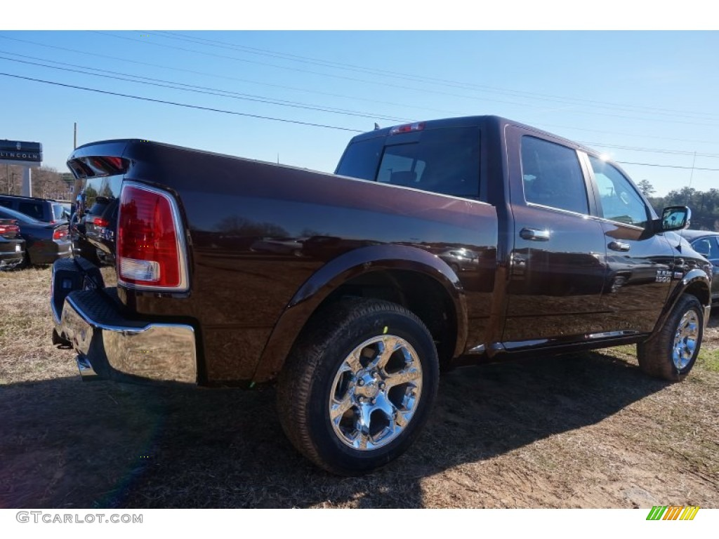 2015 1500 Laramie Crew Cab 4x4 - Western Brown / Canyon Brown/Light Frost photo #3
