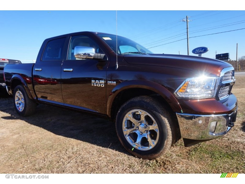2015 1500 Laramie Crew Cab 4x4 - Western Brown / Canyon Brown/Light Frost photo #4
