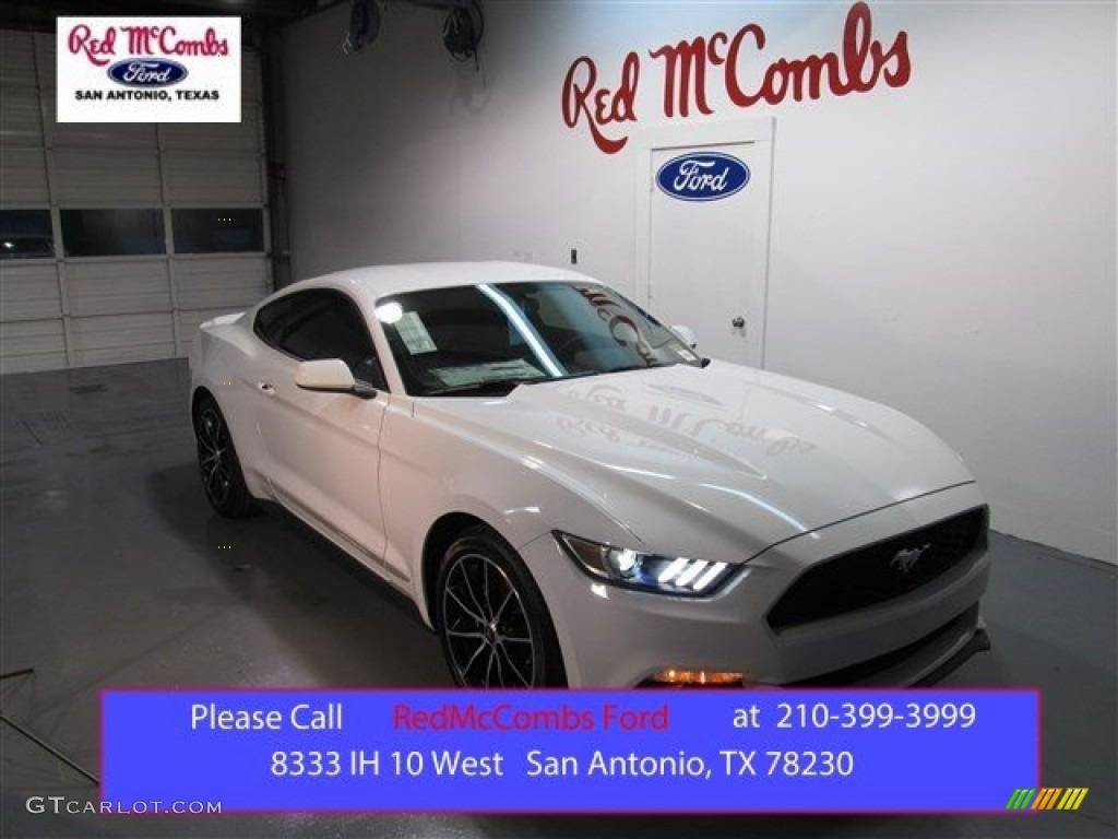 Oxford White Ford Mustang