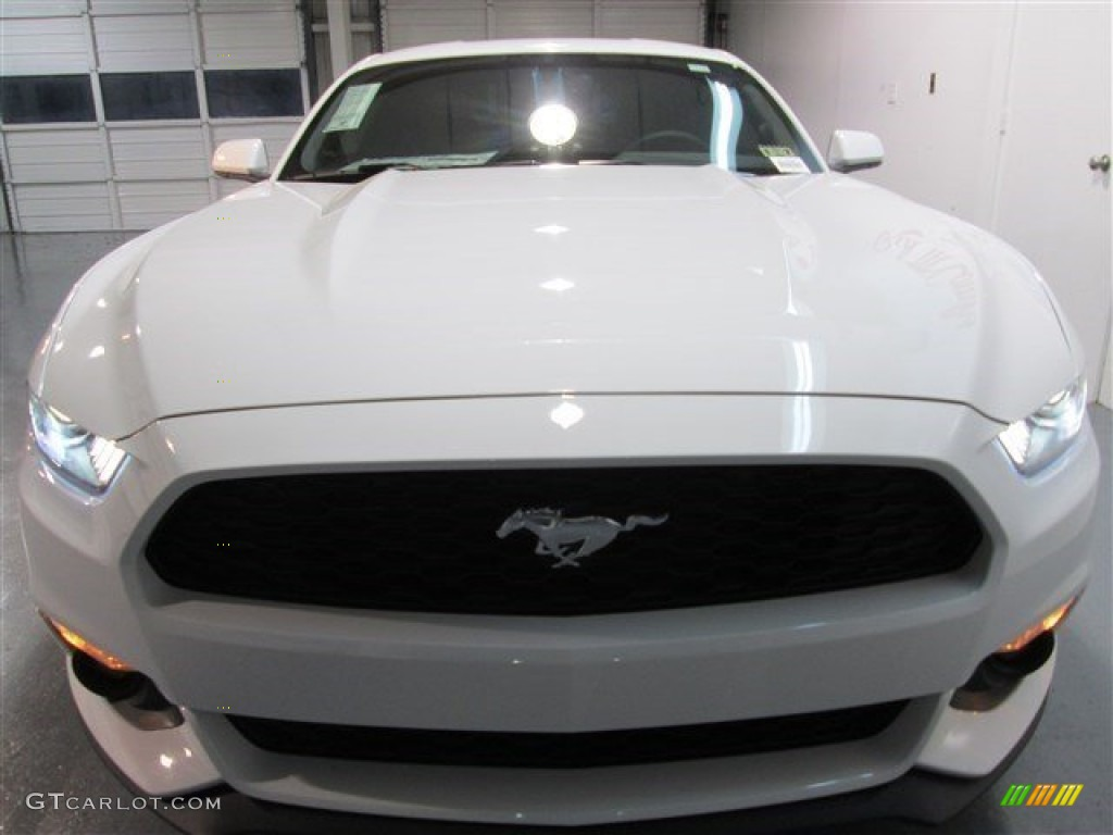 2015 Mustang EcoBoost Coupe - Oxford White / Ebony photo #2