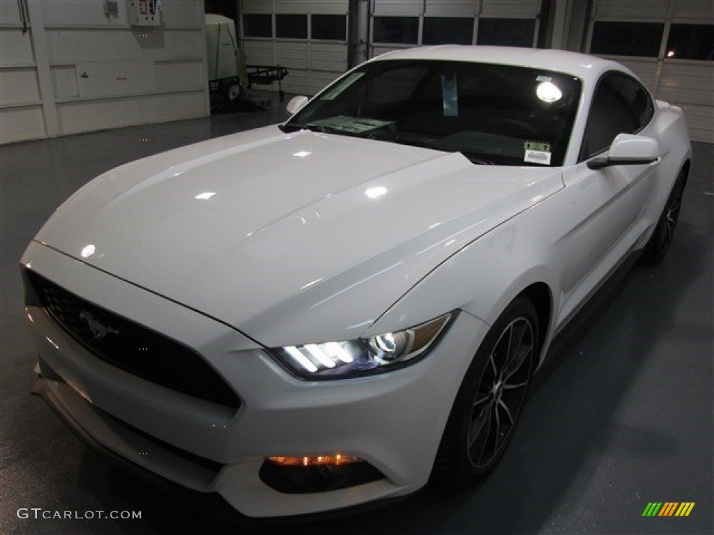 2015 Mustang EcoBoost Coupe - Oxford White / Ebony photo #3