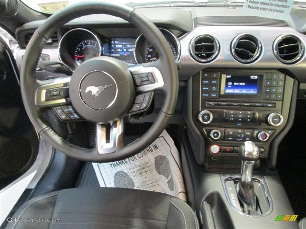 2015 Mustang EcoBoost Coupe - Oxford White / Ebony photo #9
