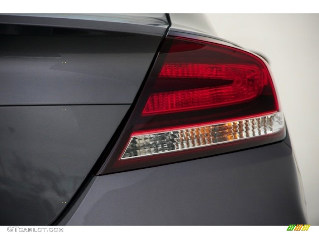 2015 Civic LX Coupe - Modern Steel Metallic / Black photo #4
