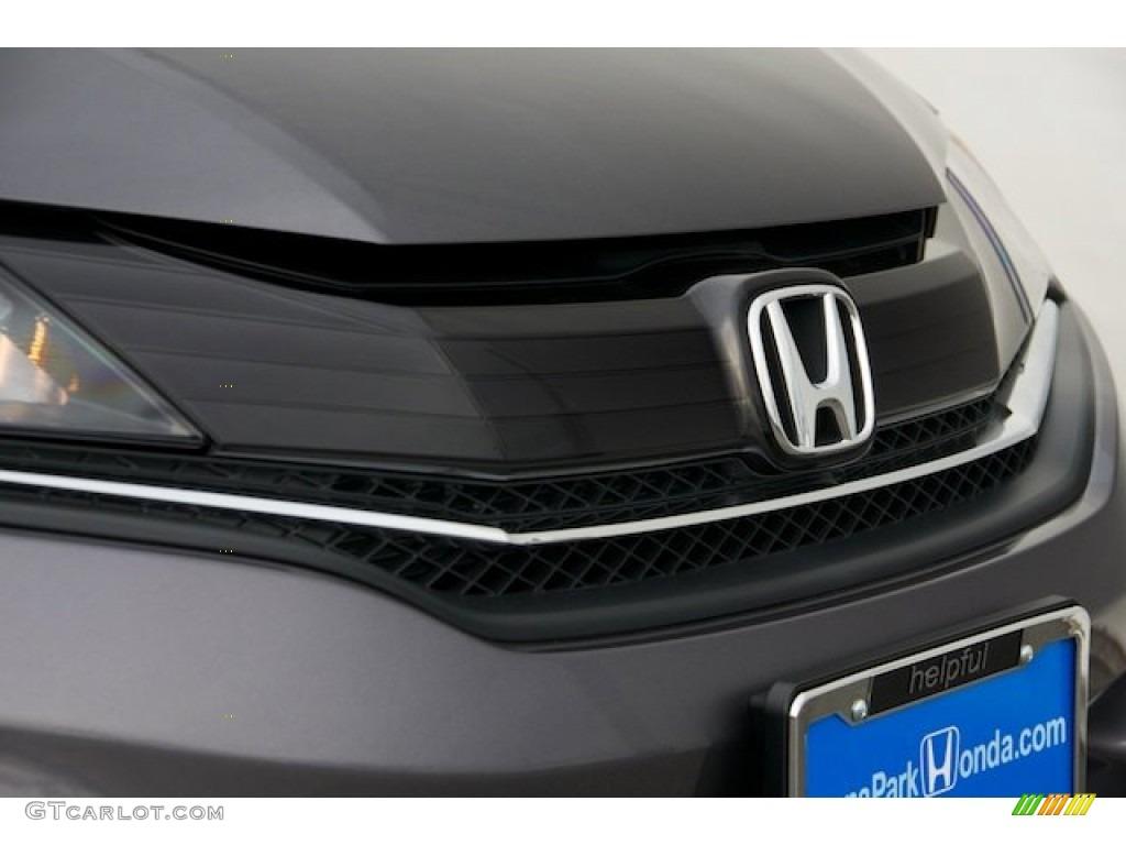 2015 Civic LX Coupe - Modern Steel Metallic / Black photo #6