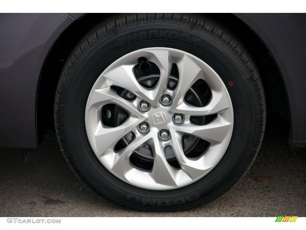 2015 Civic LX Coupe - Modern Steel Metallic / Black photo #7