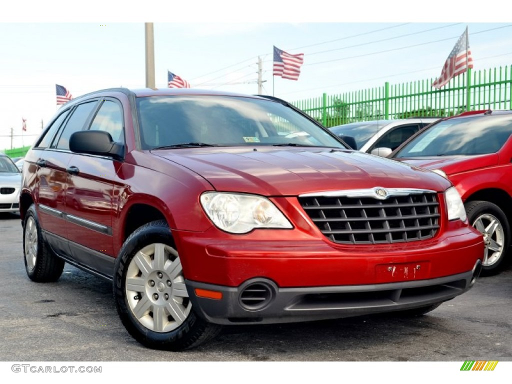 2007 inferno red crystal pearl chrysler pacifica. Black Bedroom Furniture Sets. Home Design Ideas