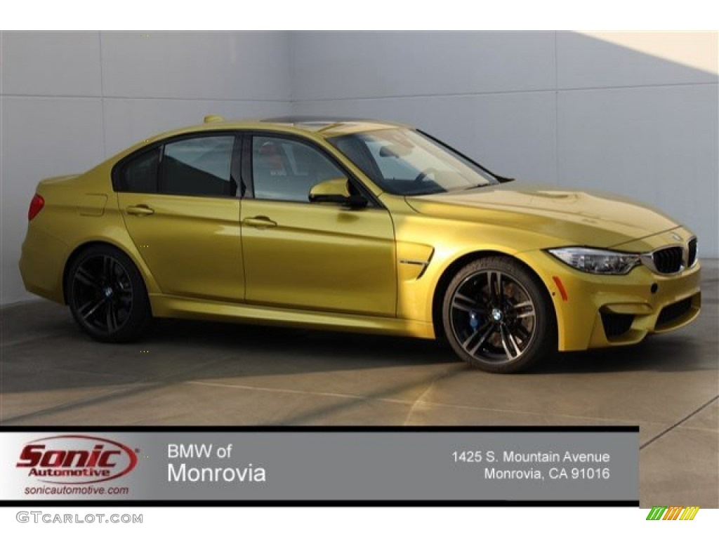 2015 Austin Yellow Metallic Bmw M3 Sedan 100618861