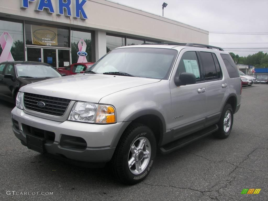 2002 explorer xlt 4x4 silver frost metallic midnight grey photo 1
