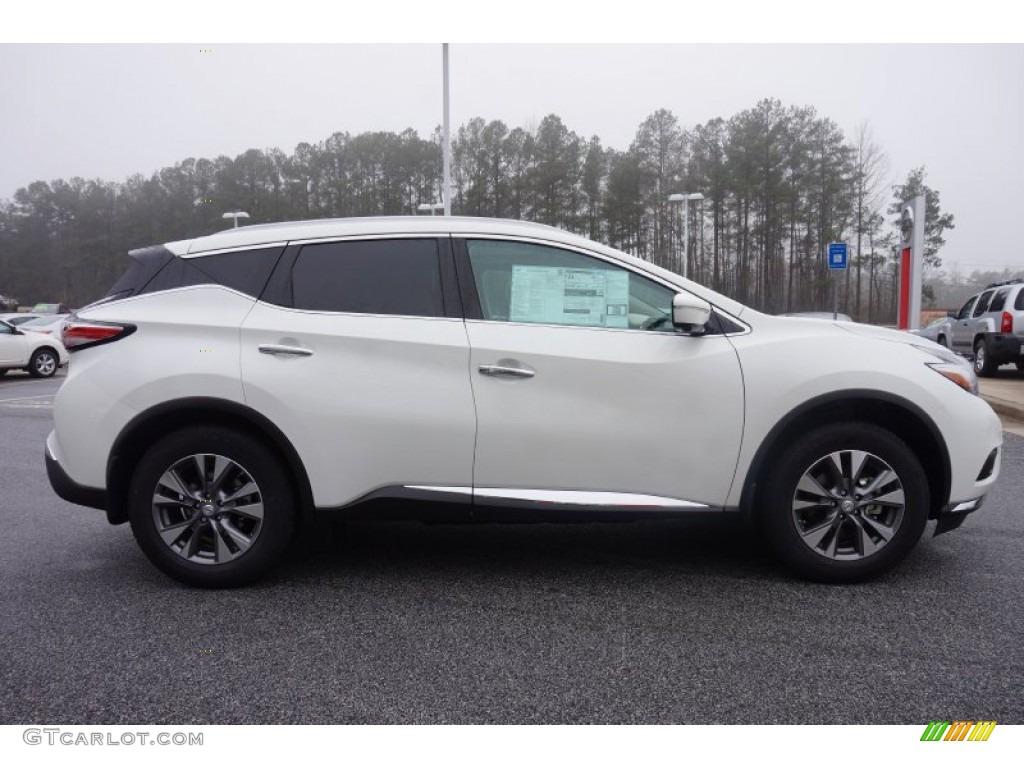 Pearl White 2015 Nissan Murano SL AWD Exterior Photo #100653051