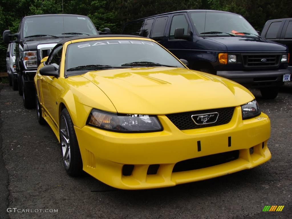 Screaming yellow ford mustang