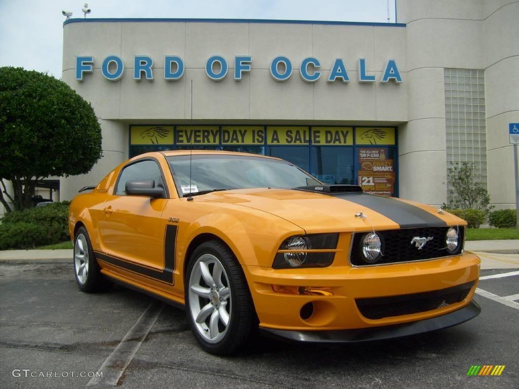 2007 grabber orange ford mustang saleen parnelli jones edition