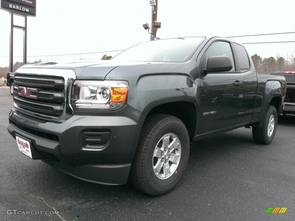 2015 cyber gray metallic gmc canyon extended cab 4x4 100672182 photo 2 car. Black Bedroom Furniture Sets. Home Design Ideas