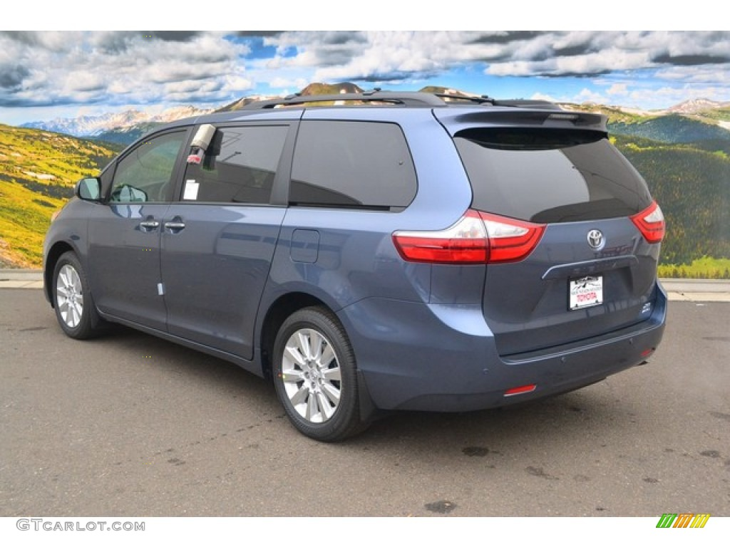 2015 Shoreline Blue Pearl Toyota Sienna Xle Awd 100714948