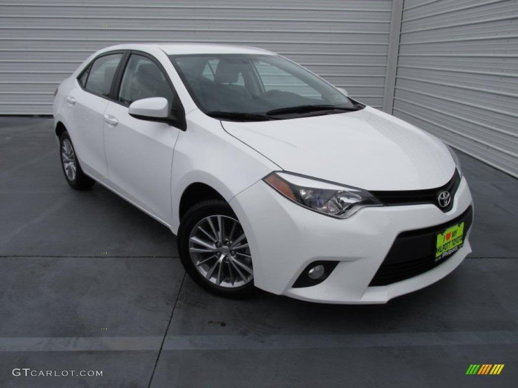 2014 Super White Toyota Corolla Le 100715287 Gtcarlot