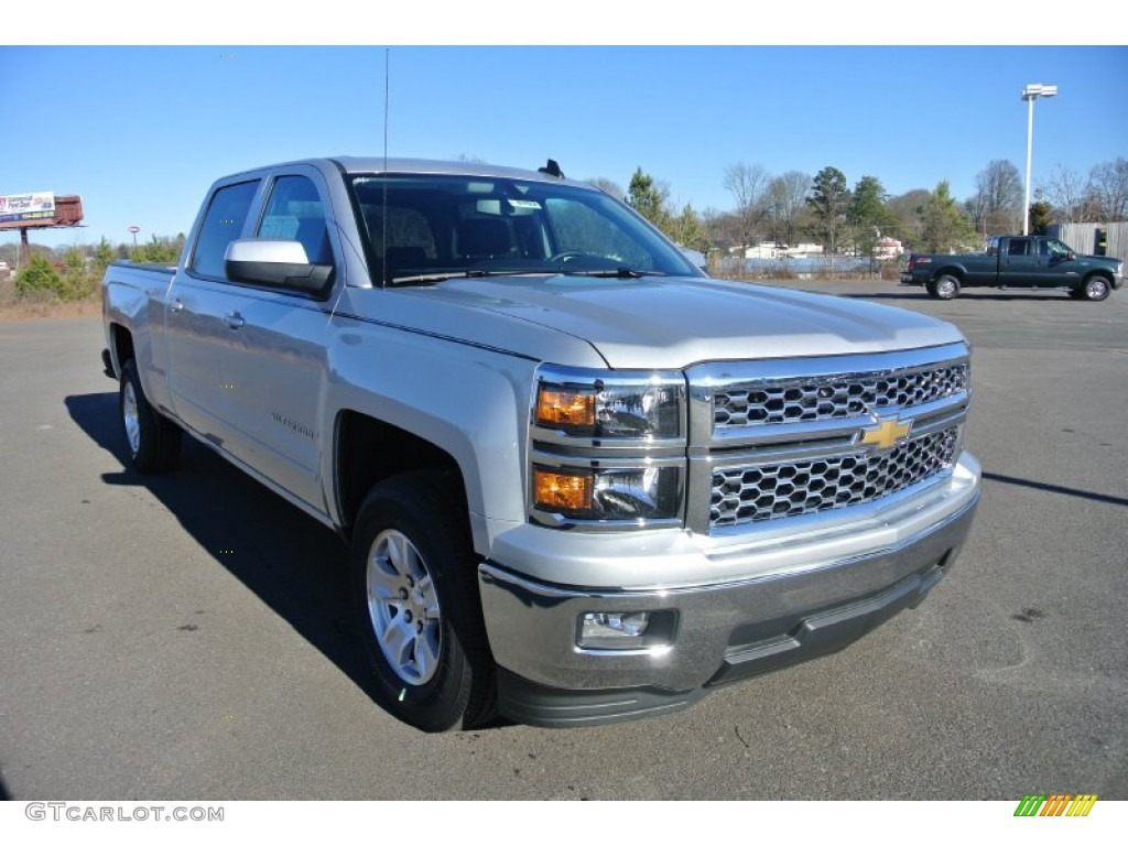 2015 silver ice metallic chevrolet silverado 1500 lt crew cab 100751411 car. Black Bedroom Furniture Sets. Home Design Ideas